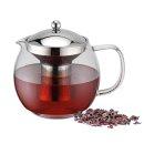 Runde Teekanne mit Teefilter