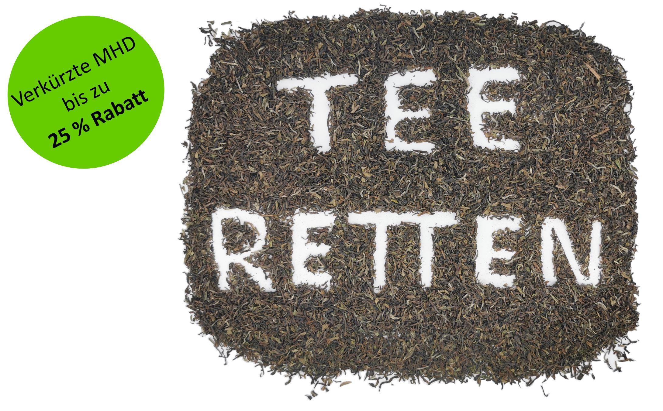 Tee mit verkürzter Mindesthaltbarkeit kaufen und 25% sparen